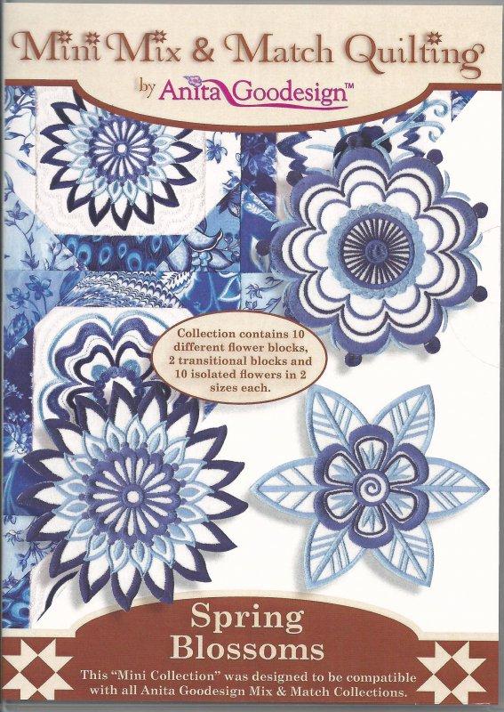 Anita Goodesign - Mini Mix & Match Quilting - Spring Blossoms