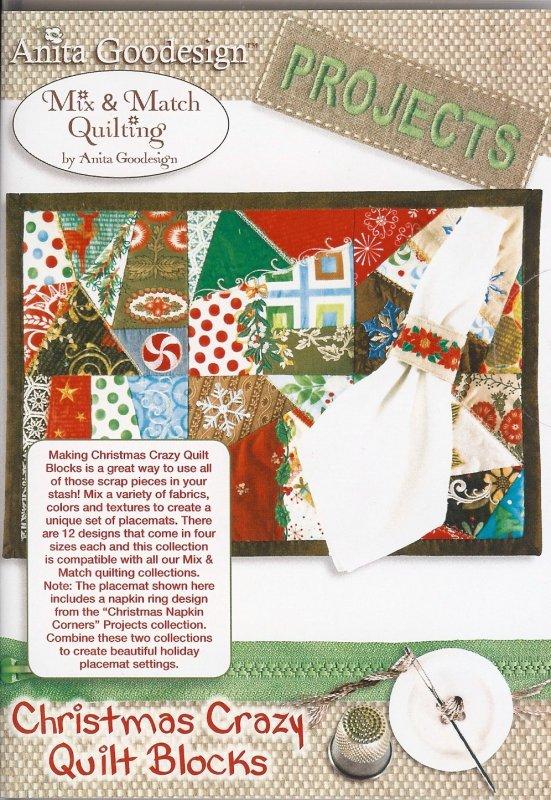 Anita Goodesign Projects Christmas Crazy Quilt Blocks