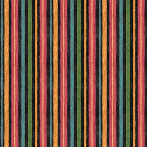 Blank Fabrics Rake & Bake Stripe 1124-99 Black