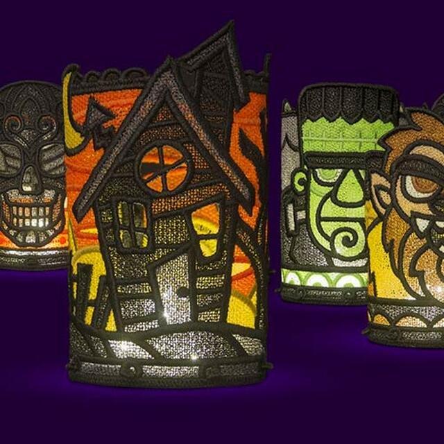 OESD Halloween Tea Light Holders Machine Embroidery CD