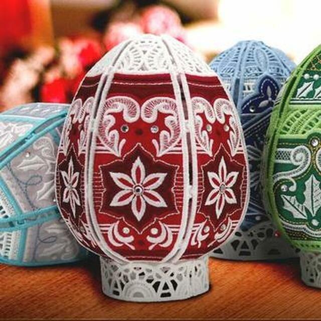 OESD Freestanding Christmas Eggs Machine Embroidery CD