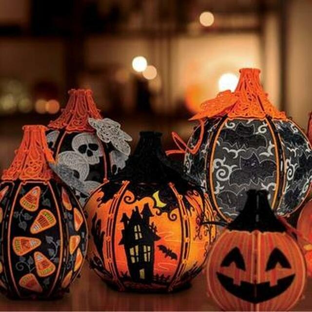 OESD Freestanding Halloween Pumpkin Patch Machine Embroidery CD