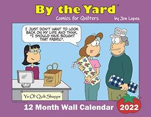 By The Yard Wall Calendar 2022