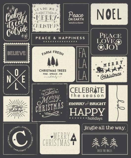 Moda Sweetwater Printworks Christmas Wishes 5766-11P Black Multi
