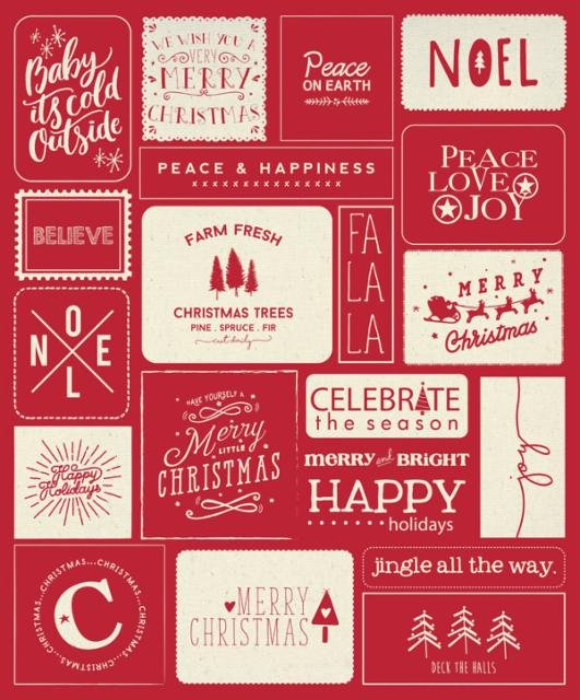 Moda Sweetwater Printworks Christmas Wishes 5766-12P Red Multi