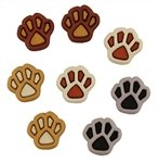 Buttons Paw Prints