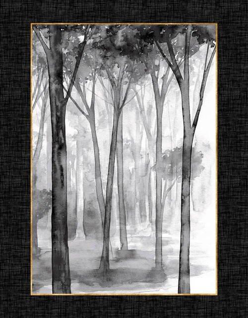 Studio E Watercolor Sketchbook Panel 5089P94 Charcoal/Gold