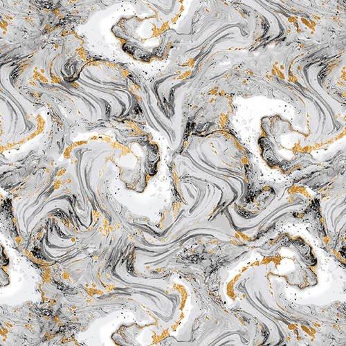 Studio E Watercolor Sketchbook Marble Swirl 5093-49 Gray/Gold