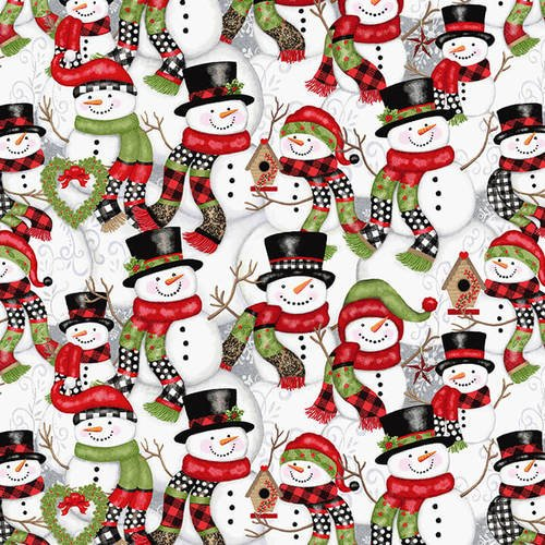 Studio E Snow Place Like Home Stacked Snowmen 5162-98 Multi