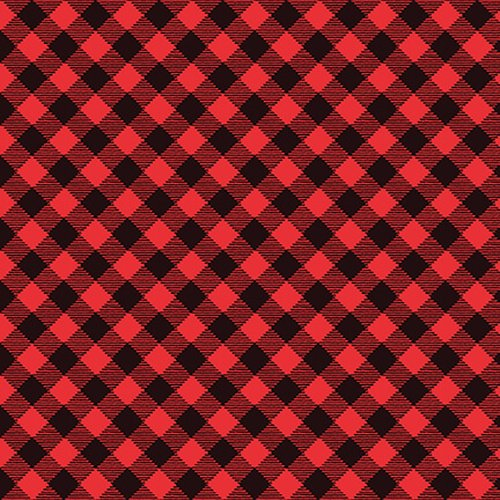 Studio E Snow Place Like Home Buffalo Plaid 5171-98 Red
