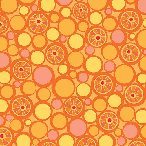 Contempo Free Motion Fantasy 05444-23 Pebbles Hot Orange