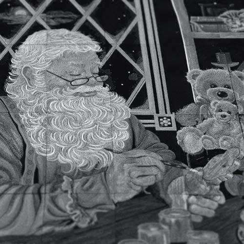 OESD Santa's Workshop Tiling Scene Machine Embroidery CD