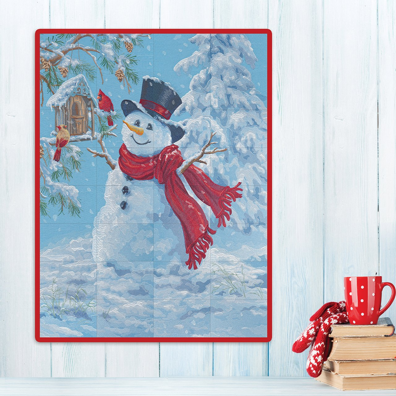Happy Snowman Tiling Scene - Machine Embroidery CD