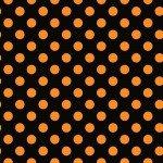Maywood Hometown Halloween Dots MAS8216-JO Black/Orange