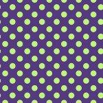 Maywood Hometown Halloween Dots MAS8216-VG Purple/Green
