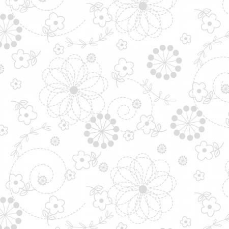 Maywood Kimberbell Basic Doodles MAS8246WW White on White