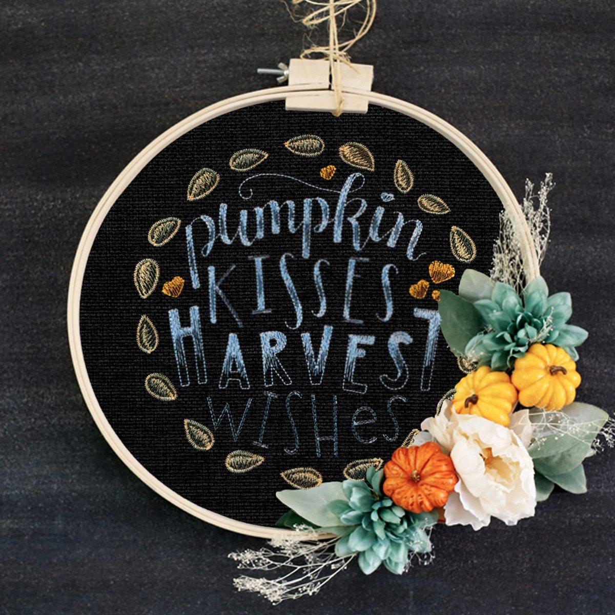 OESD Scissortail Stitches Pumpkin Kisses Machine Embroidery CD