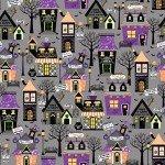 Maywood Hometown Halloween Hometown Houses MAS9920-K Grey