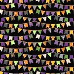 Maywood Hometown Halloween - Halloween Flags MAS9921-J Black