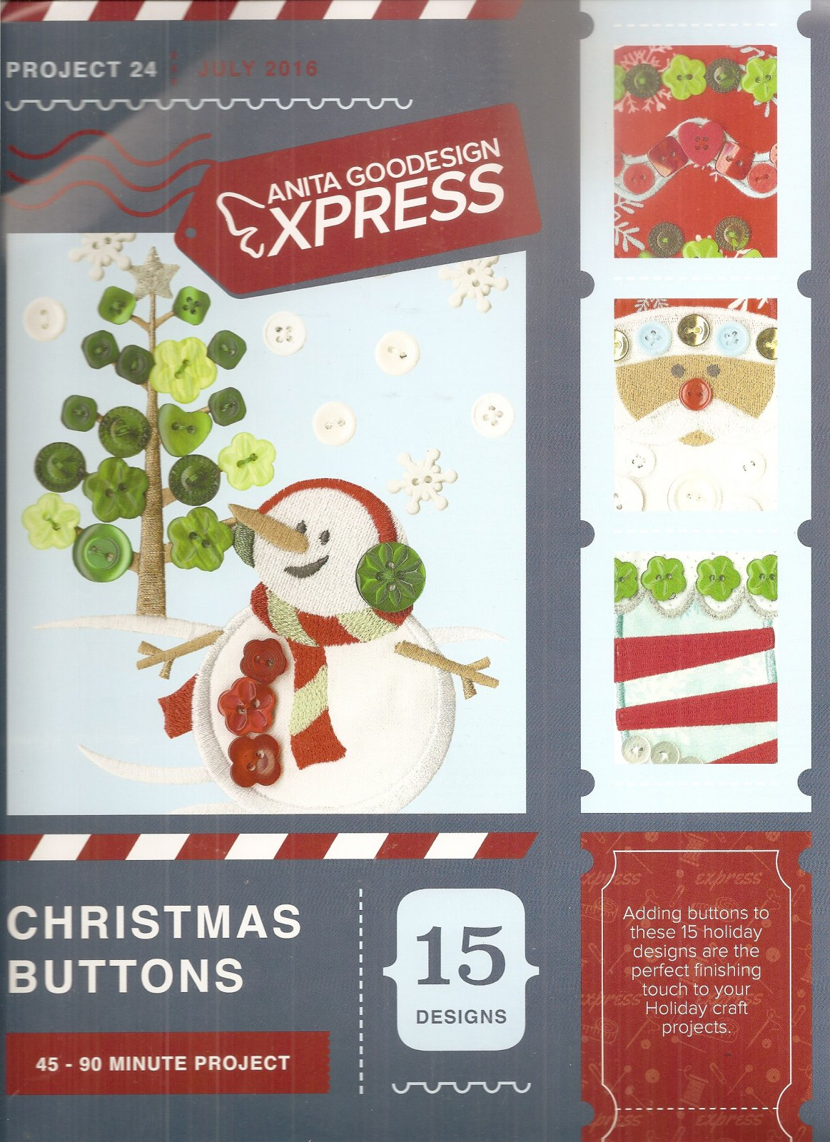 Anita Goodesign Express Christmas Buttons