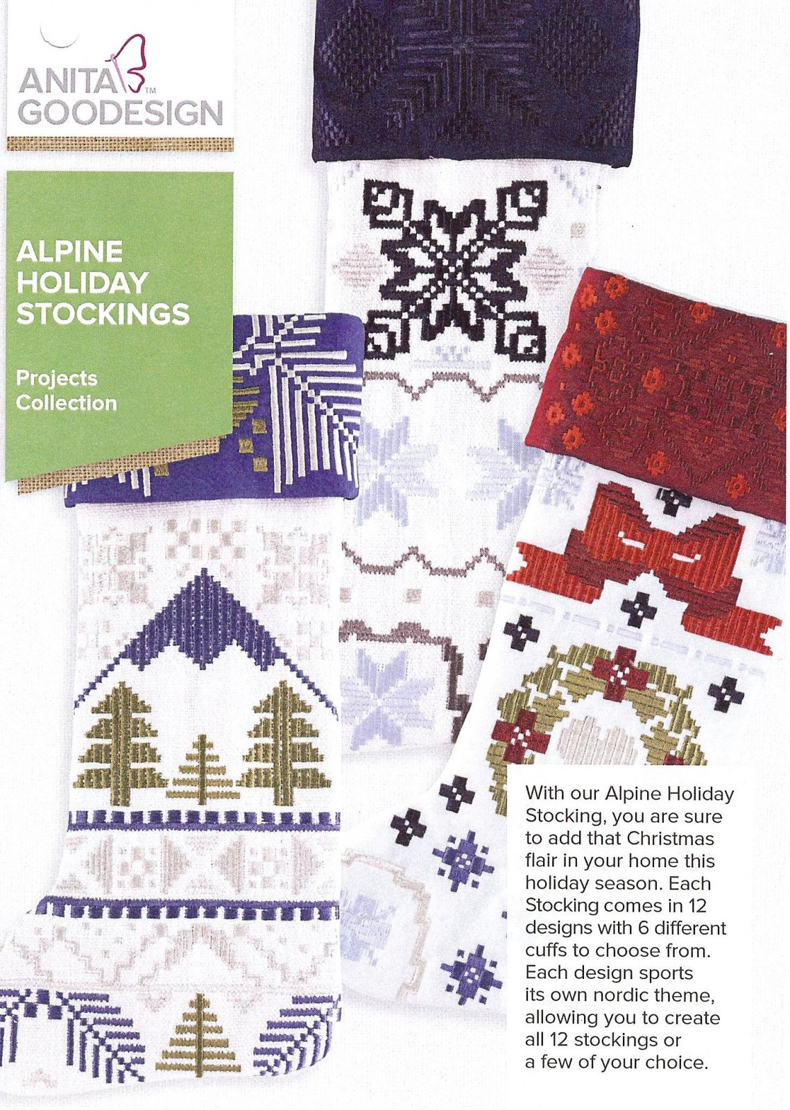 Anita Goodesign Projects Alpine Holiday Stockings
