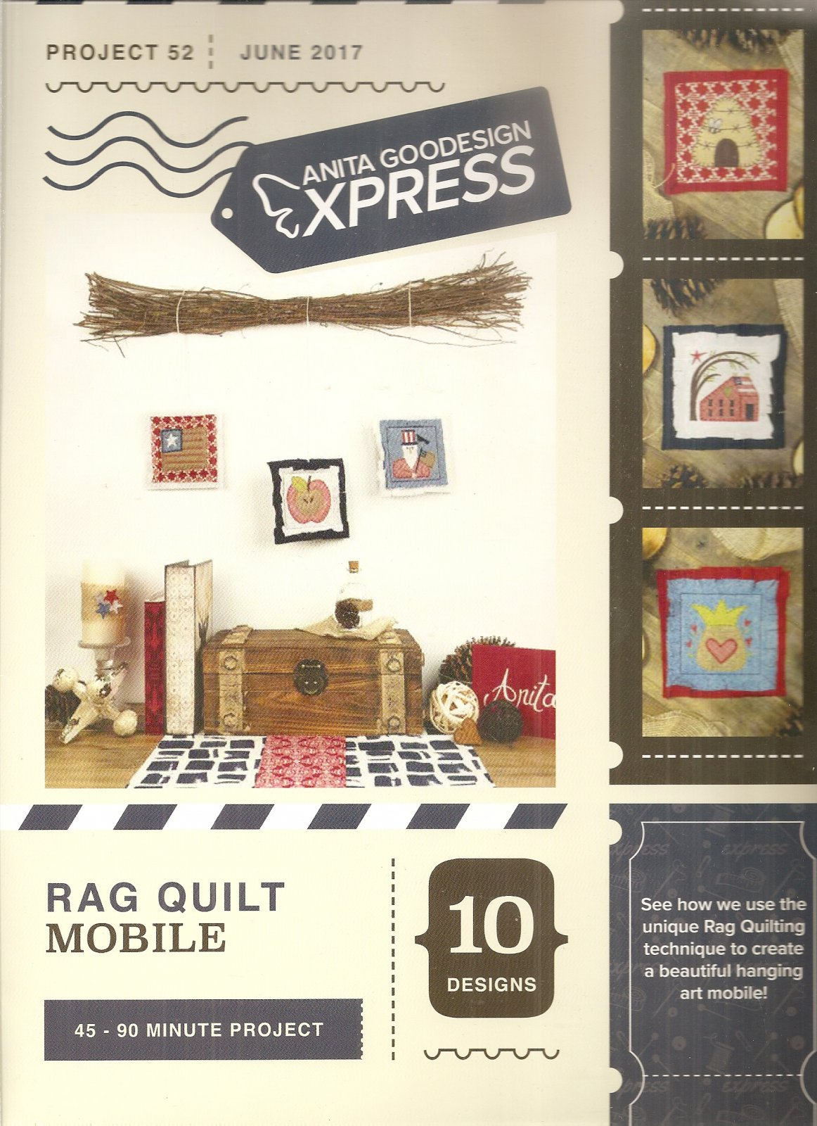Anita Goodesign Projects Rag Quilt Mobile