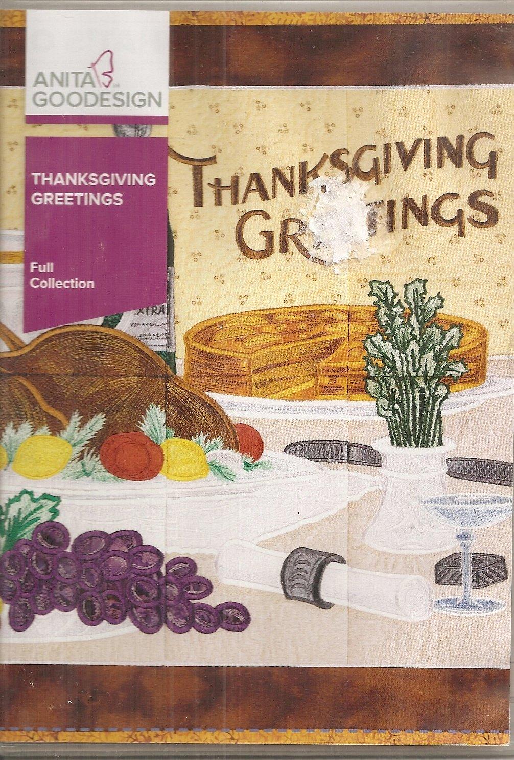 Anita Goodesign Full Collection Thanksgiving Greetings