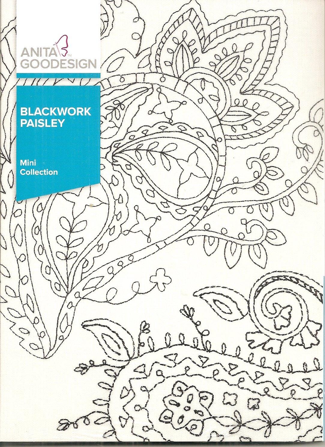 Anita Goodesign Mini Collection Blackwork Paisley