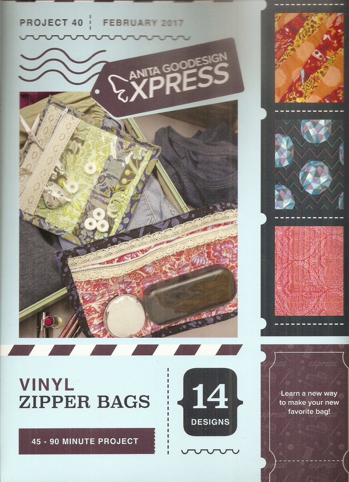 Anita Goodesign Express Vinyl Zipper Bags 079673011415