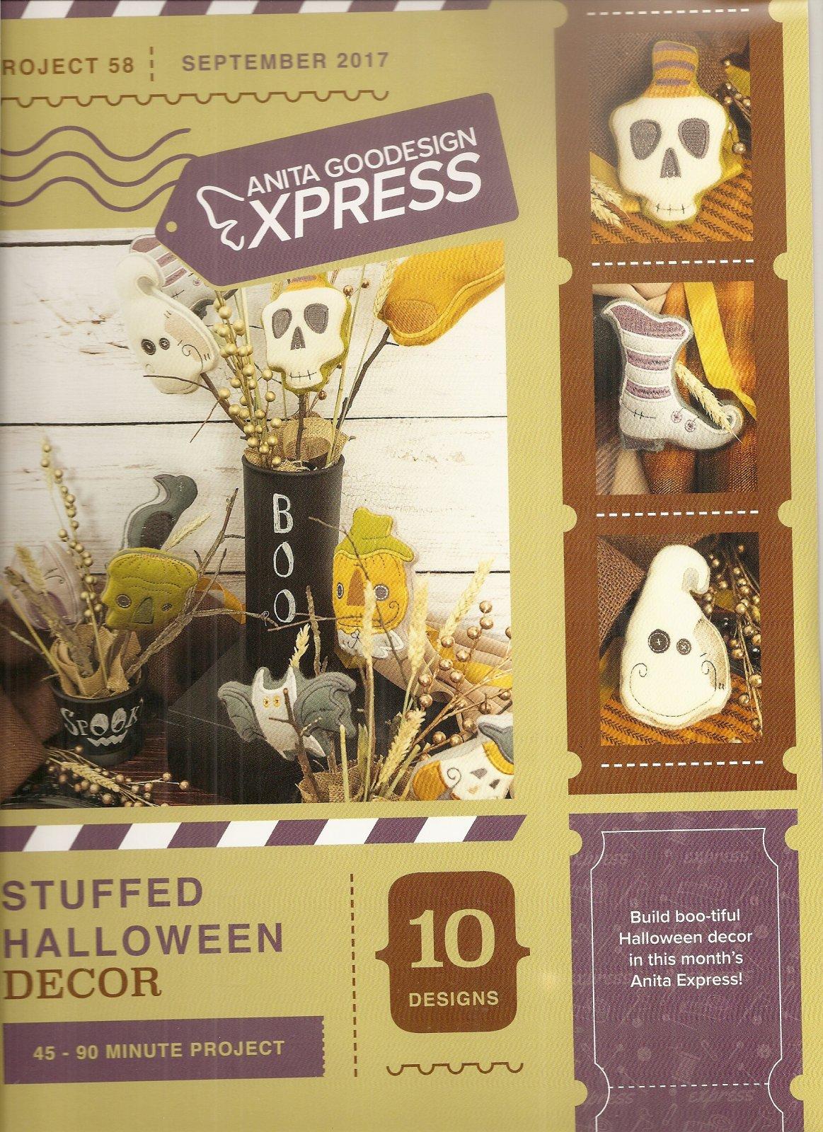 Anita Goodesign Express Stuffed Halloween Decor