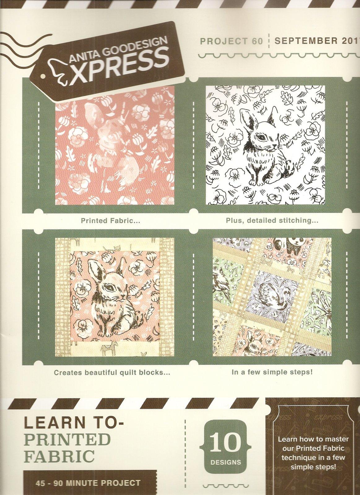 Anita Goodesign Express Learn to Print Fabric