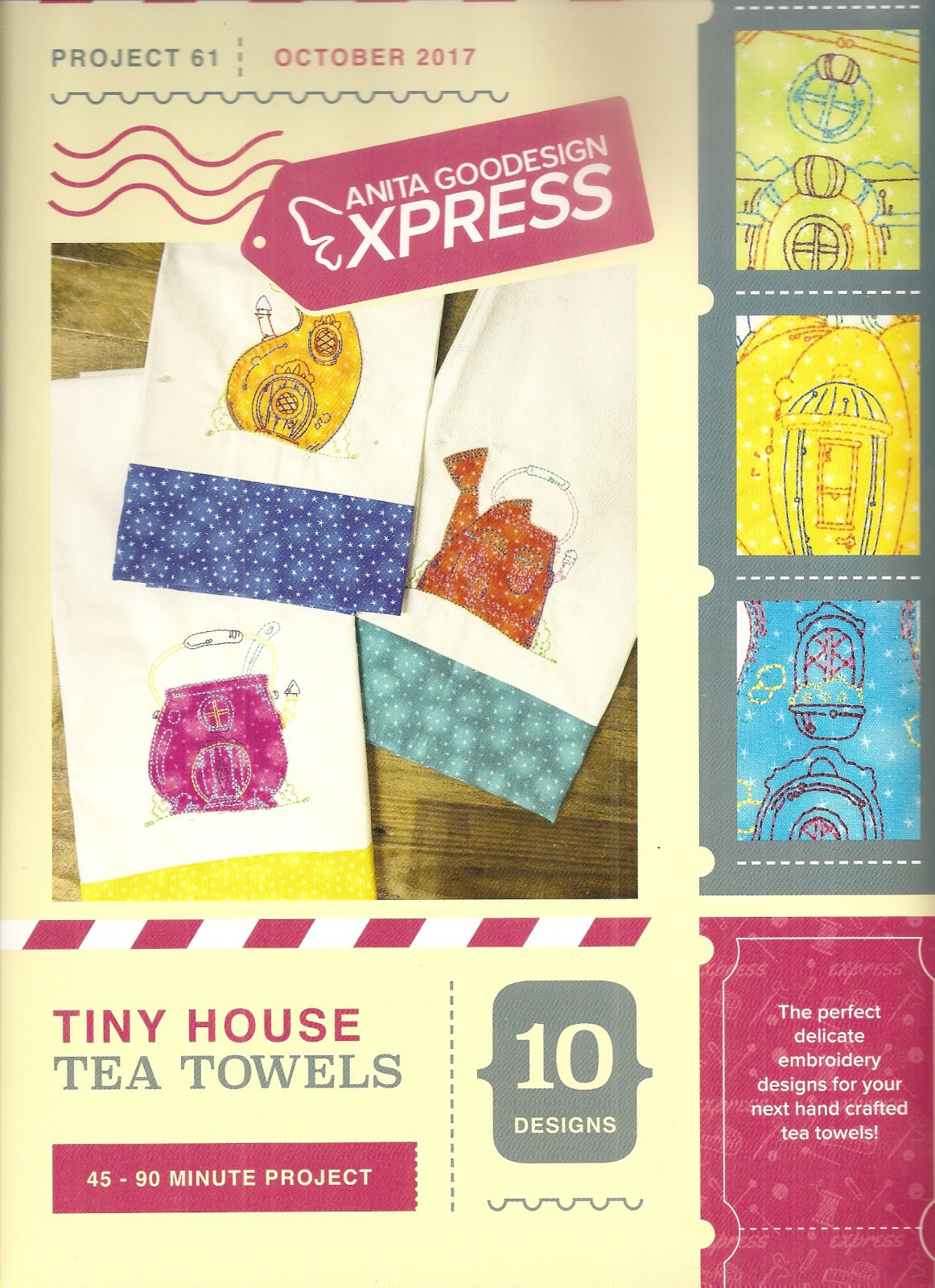 Anita Goodesign Express Tiny House Tea Towels