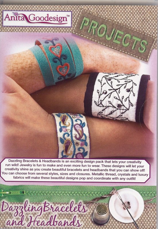 Anita Goodesign - Projects - Dazzling Bracelets and Headbands