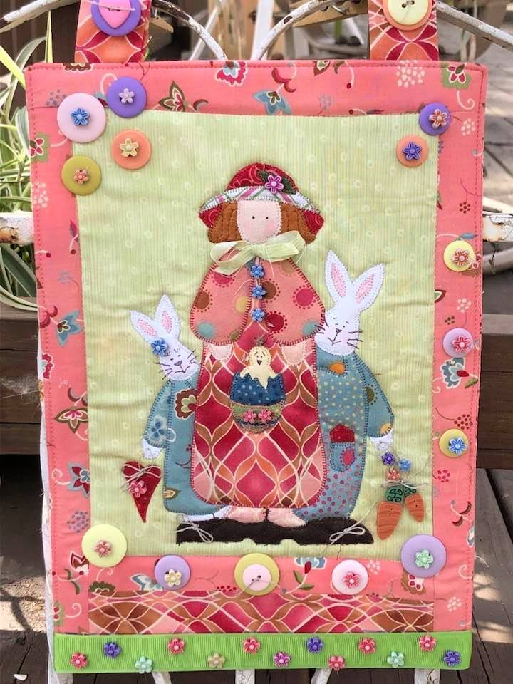 Bunnies in My Garden Button Kit with Free Pattern