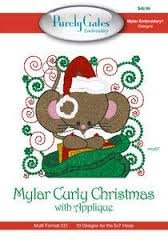 Purely Gates Embroidery Mylar Curly Christmas