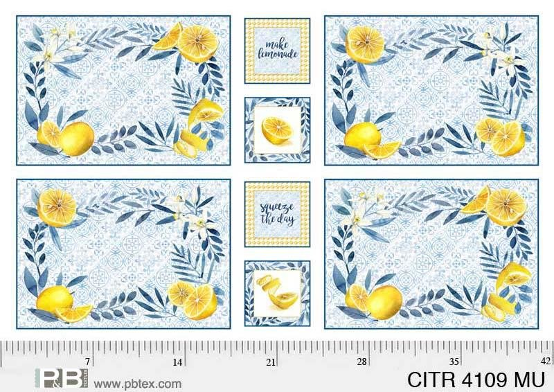 P&B Textiles Citrus Sayings CITR 04109-MU