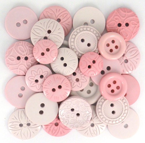 Buttons-Color Me Pink