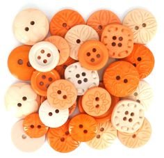 Buttons-Color Me Coral