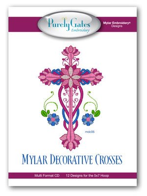 Purely Gates Embroidery Mylar Decorative Crosses