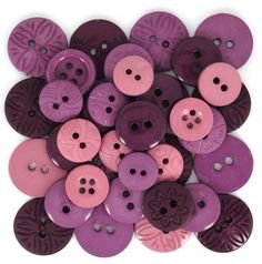Buttons-Color Me Plum