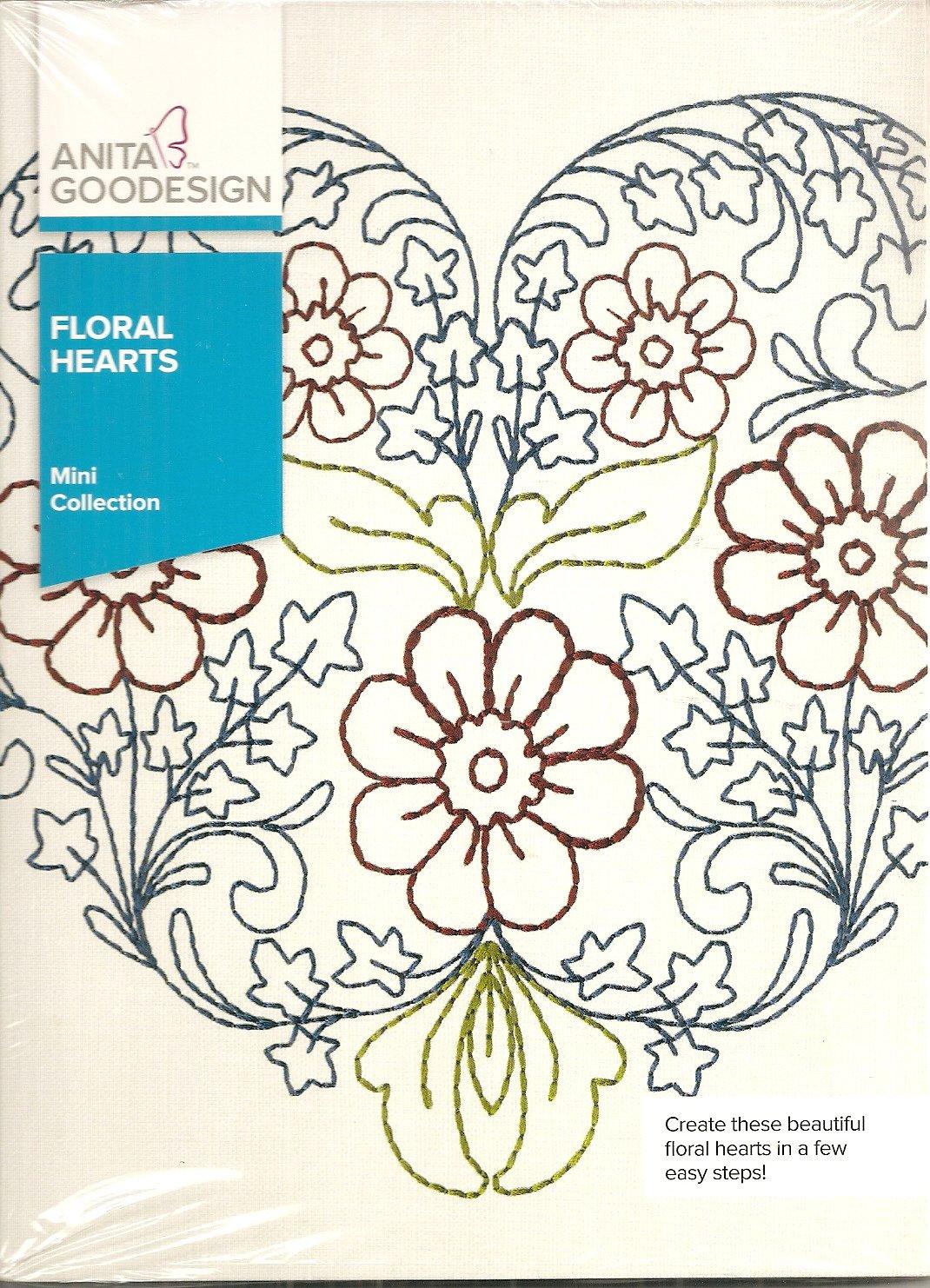 Anita Goodesign Mini Collection Floral Hearts