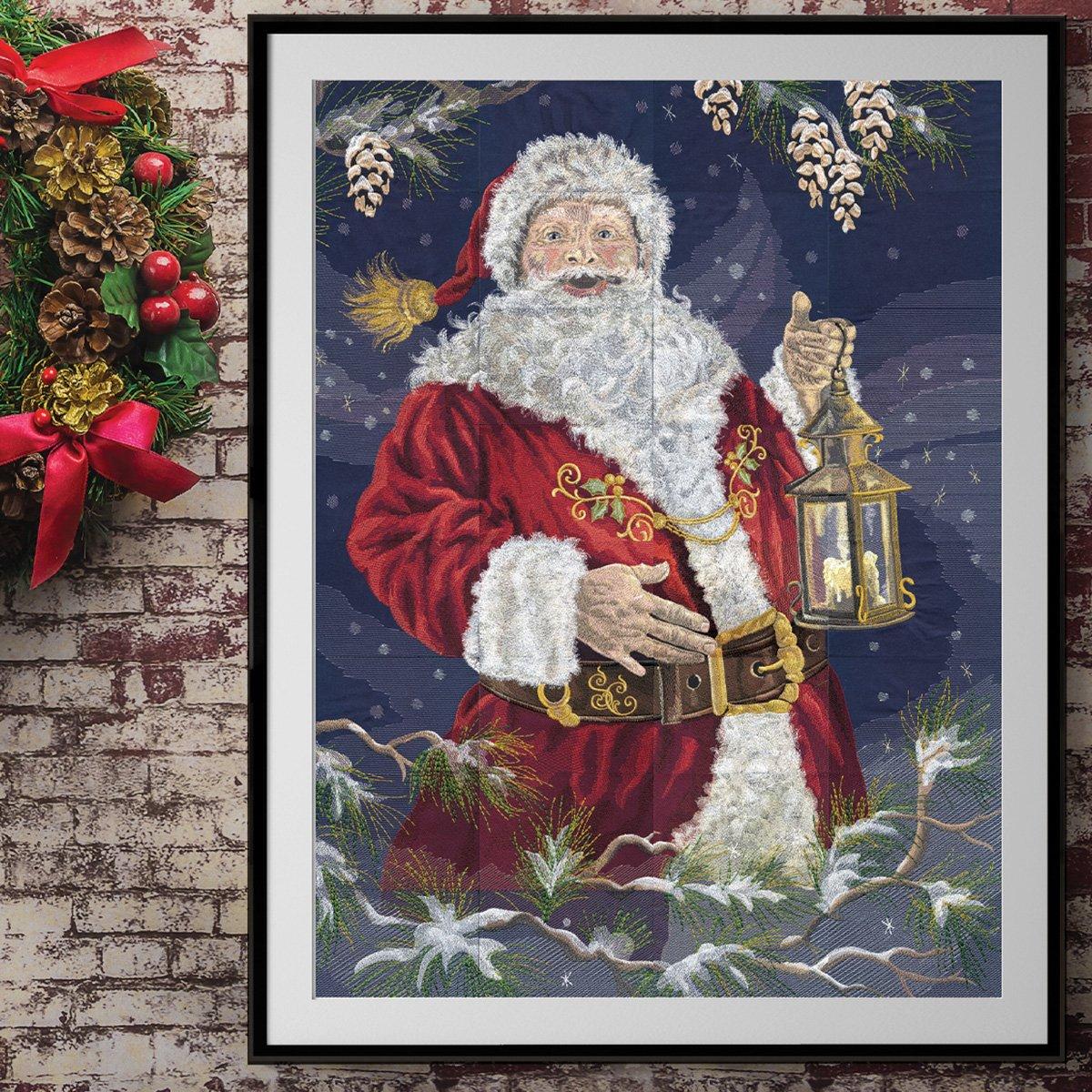 OESD Enchanted Santa Tiling Scene Machine Emboidery Design