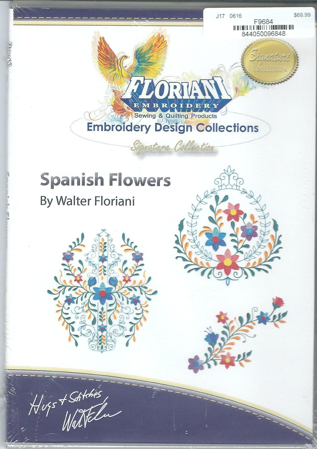 Floriani Embroidery Design Collection Spanish Flowers