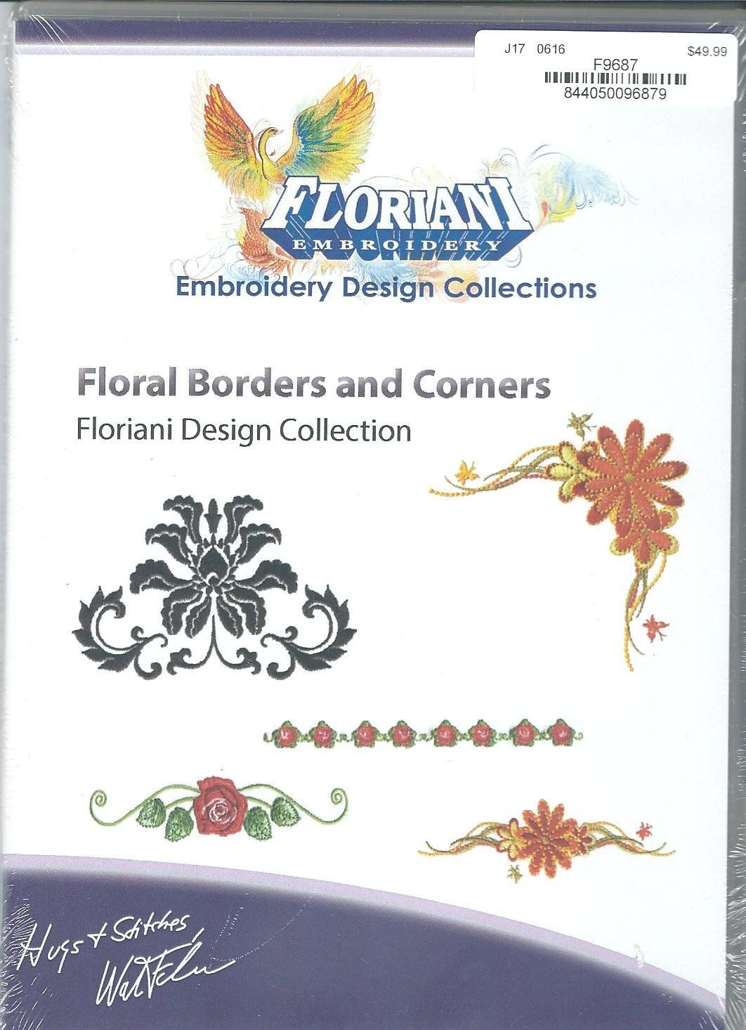 Floriani Embroidery Design Collection Floral Borders and Corners
