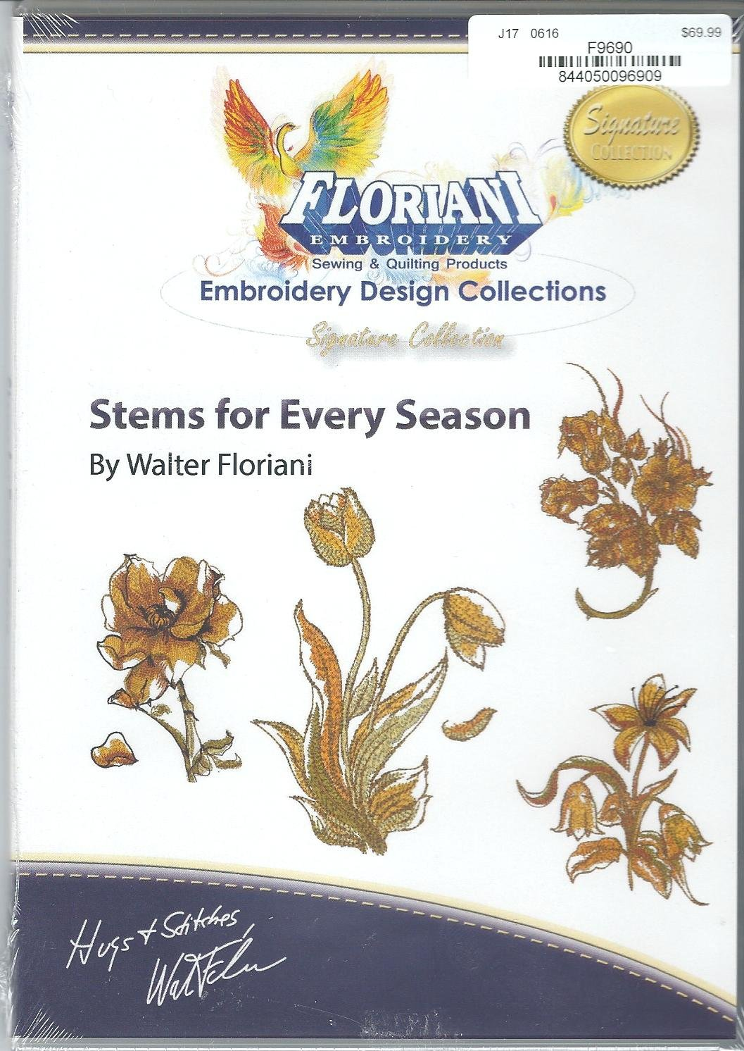 Floriani Embroidery Design Collection  Stems for Every Season