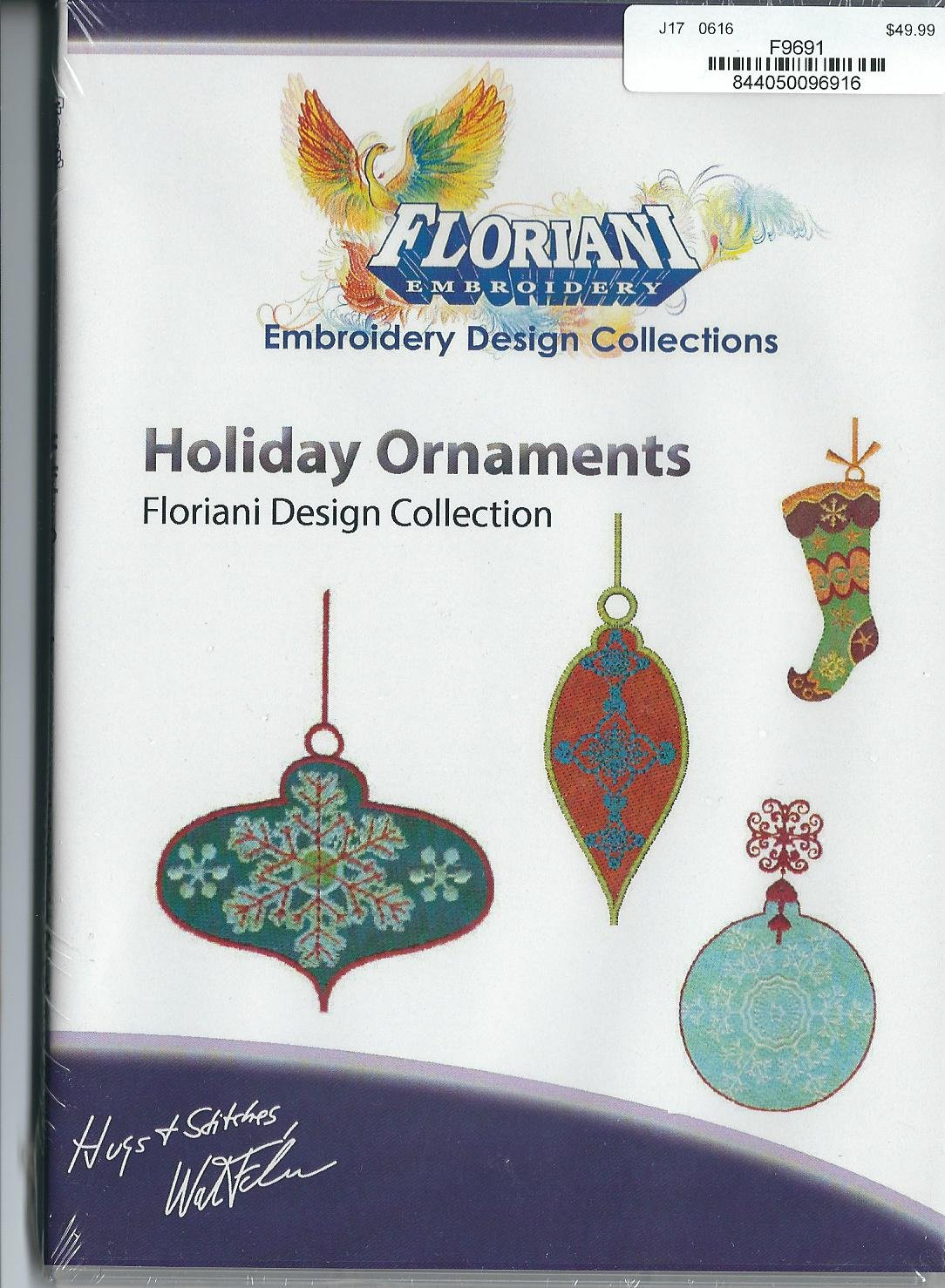 Floriani Embroidery Design Collection Holiday Ornaments