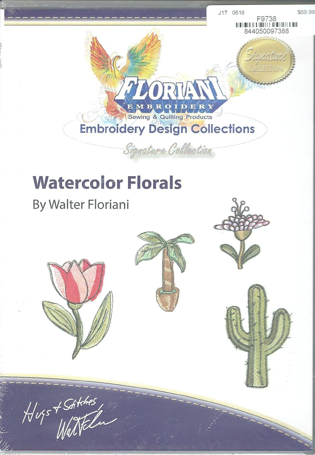 Floriani Embroidery Design Collection Watercolor Florals