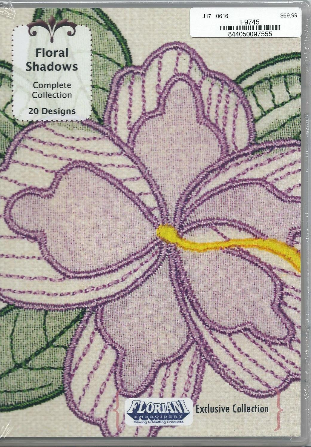 Floriani Embroidery Design Collection Floral Shadows