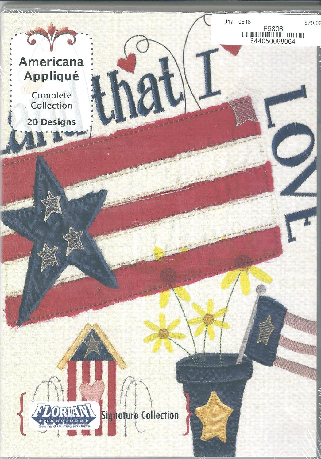 Floriani Embroidery Design Collection Americana Applique