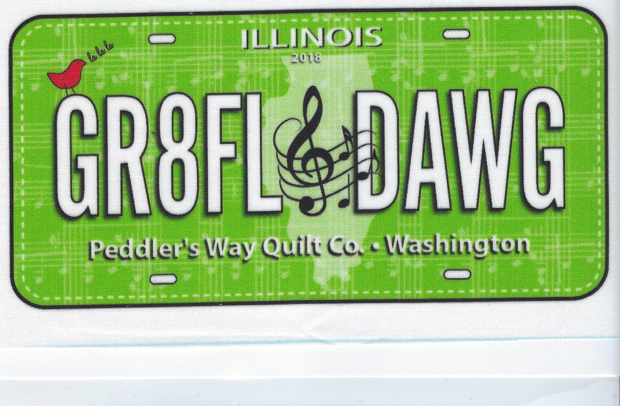 2018 Gr8ful Dawg Fabric Plate